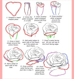 how to draw roses [ 2800 x 3175 Pixel ]