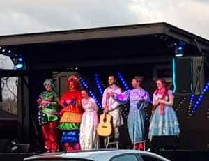pantomime cast tread the boards stratford