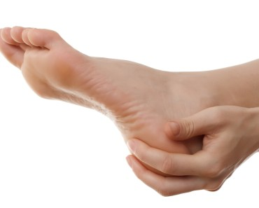 heel pain bare human foot