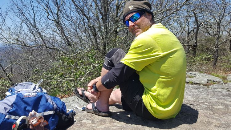 Appalachian Trail Hiker Mark M. on the Trail with His Kenkoh Massage Sandals