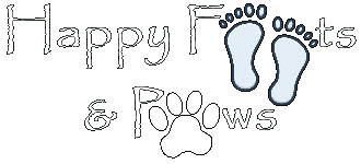 Happy Feets and Paws Logo