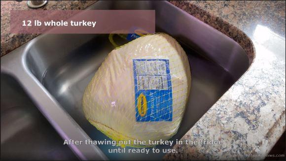 Thawing turkey