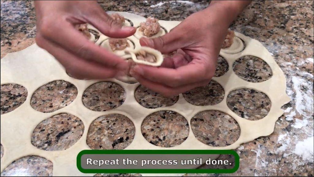 making pelmeni by hand