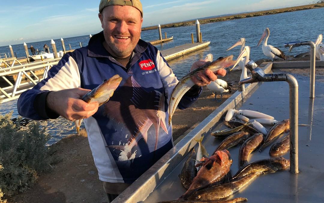 Happy fisherman Werribee Big Flathead