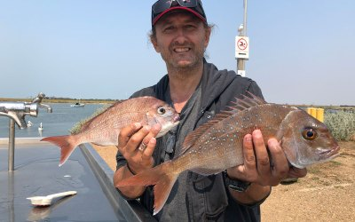 2020 Jan 18 – fishing Portarlington with Zoran