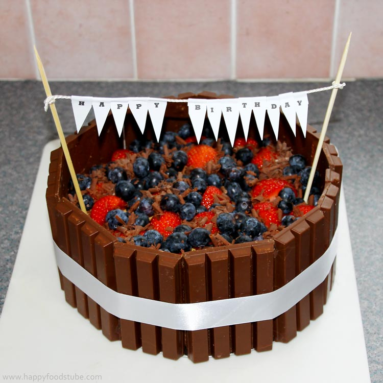 Kit Kat Candy Bars Cake Happy Foods Tube