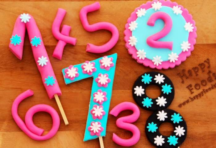How To Make Fondant Numbers For Birthday Cake Video Happyfoods Tube