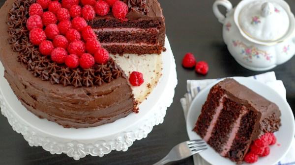 Red Wine Chocolate Raspberry Cake Video - Happy Foods Tube