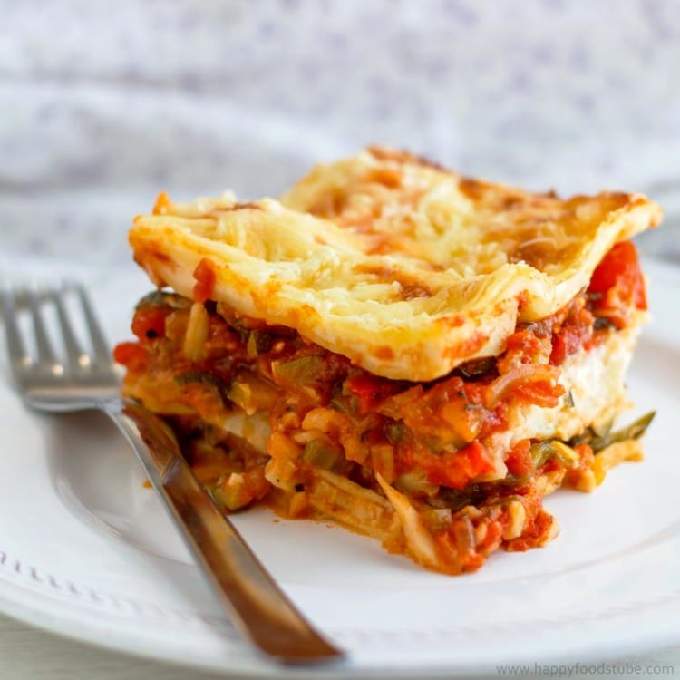 Hearty Vegetable Lasagne Recipe  Happy Foods Tube