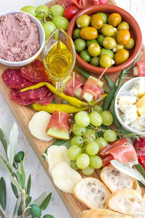 Simple Mediterranean Antipasti Platter Easy Party Food Picture