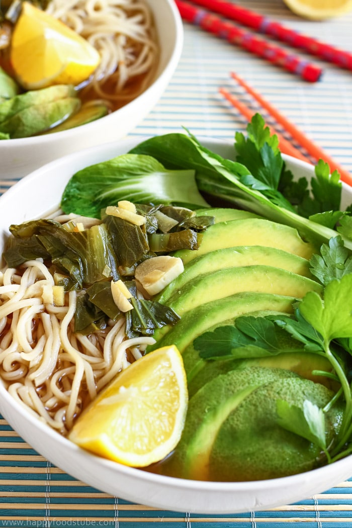 Homemade Ramen with Chow Mein Noodles Photo