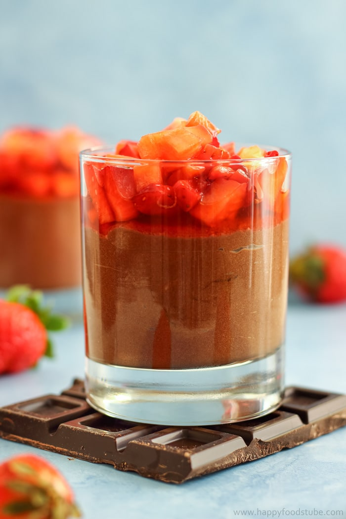 Chocolate Nutella Mousse with Strawberries Picture