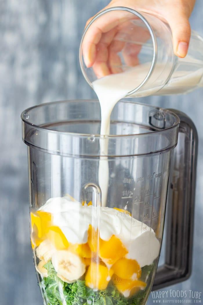 How to make Mango Kale Smoothie Step 2