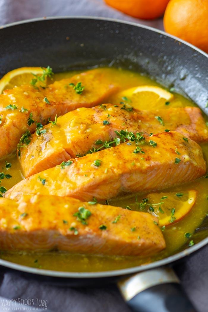 Honey Orange Glazed Salmon