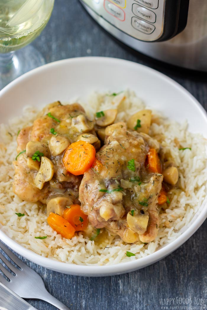 Instant Pot Pressure Cooker Chicken Chasseur
