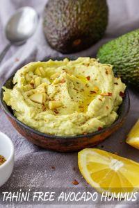 Tahini Free Avocado Hummus Recipe