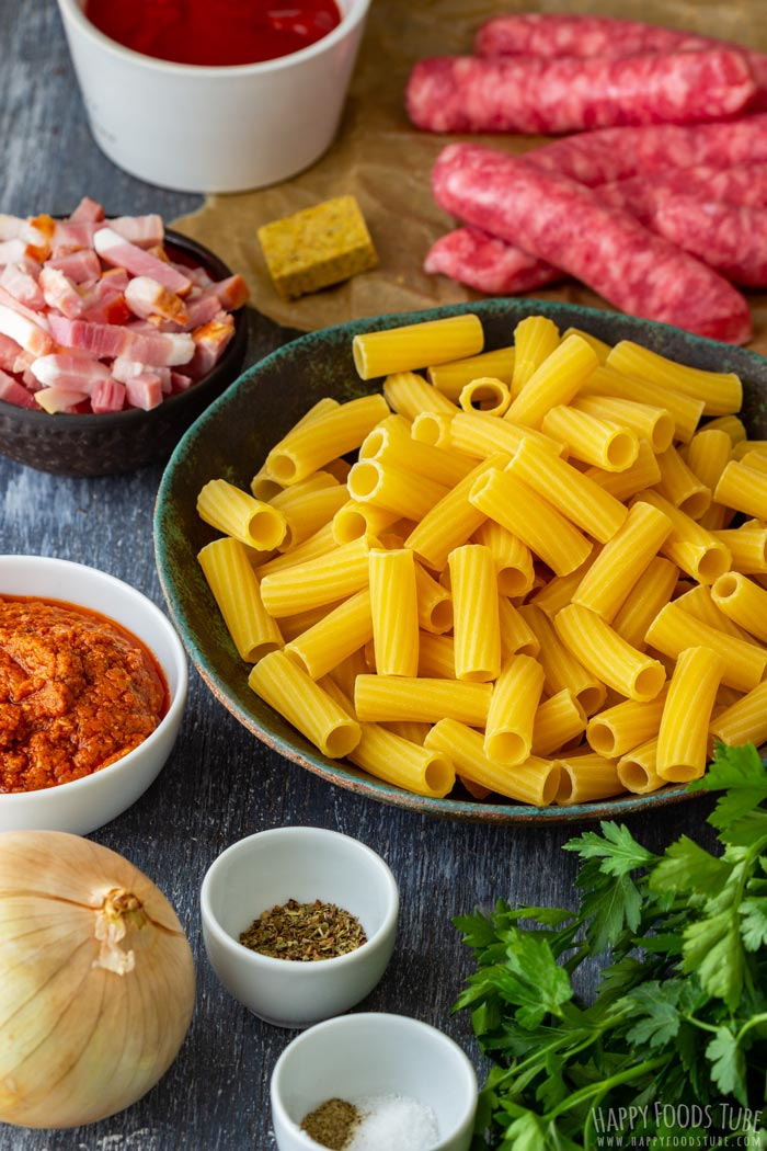One Pot Sausage Pasta Ingredients