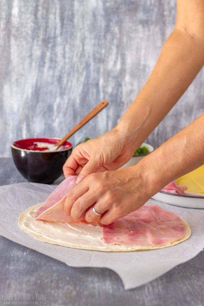 How to make Ham and Cheese Pinwheels Step 2