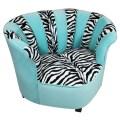 Cool chair for tweens in funky zebra pattern