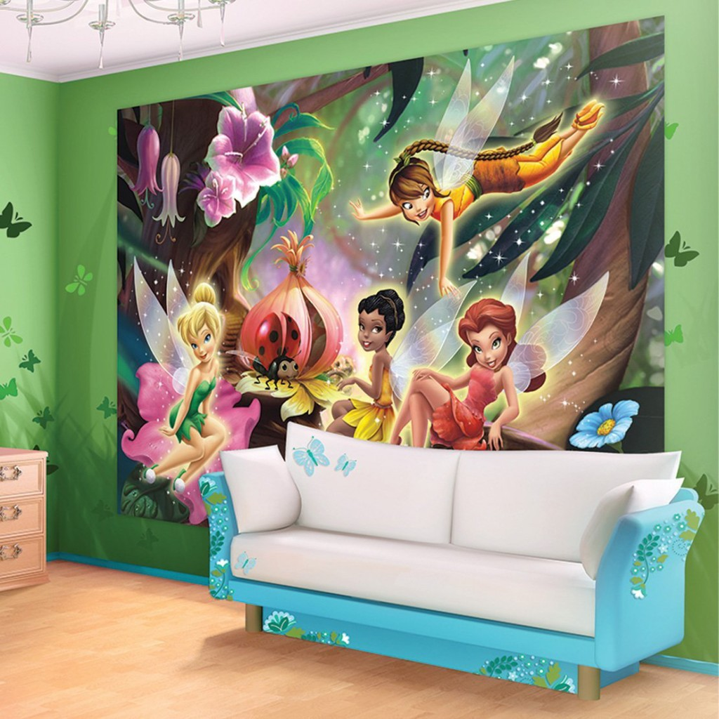 cute fairy wall murals and fairy wall decals for girls