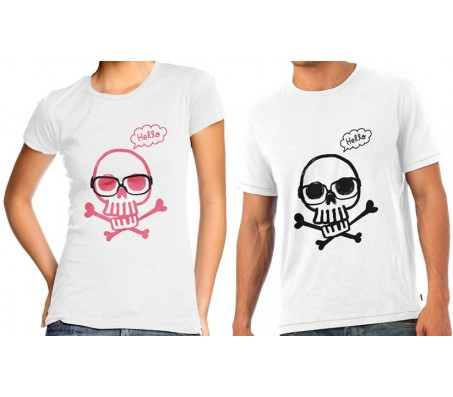 Couple TShirts With Skull Design
