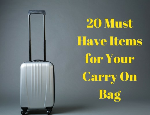 20 Must Have Items for Your Carry On Bag - HappyGirlLife