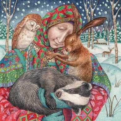 In The Arms Of Grace Card By Wendy Andrew Happy Glastonbury