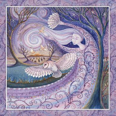 Winter Solstice Card Happy Glastonbury