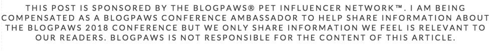 BlogPaws Conference Sponsored Post Disclaimer
