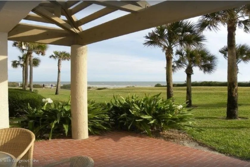 photo the the view from a dog-friendly condo at Amelia Island