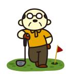 うわぉ!出たっ!教え魔のおじさん出現 at ゴルフ練習場。