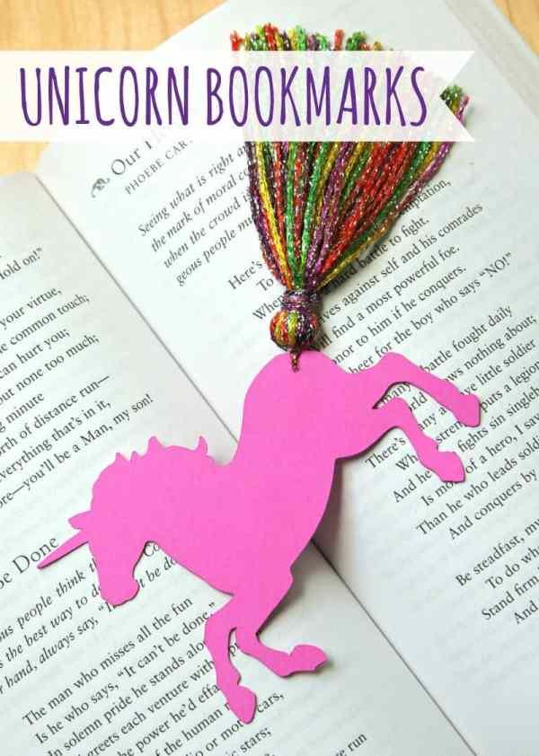 printable unicorn bookmarks # 37