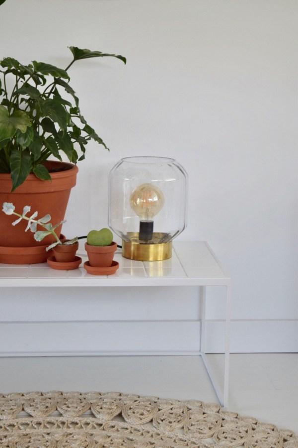 gouden lampen in huis