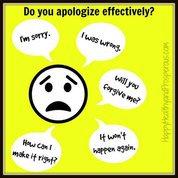 How to Apologize Effectively