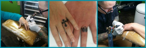 What 15 years of marriage has taught me... You'll do some crazy stuff together, like get ring tattoos to celebrate!