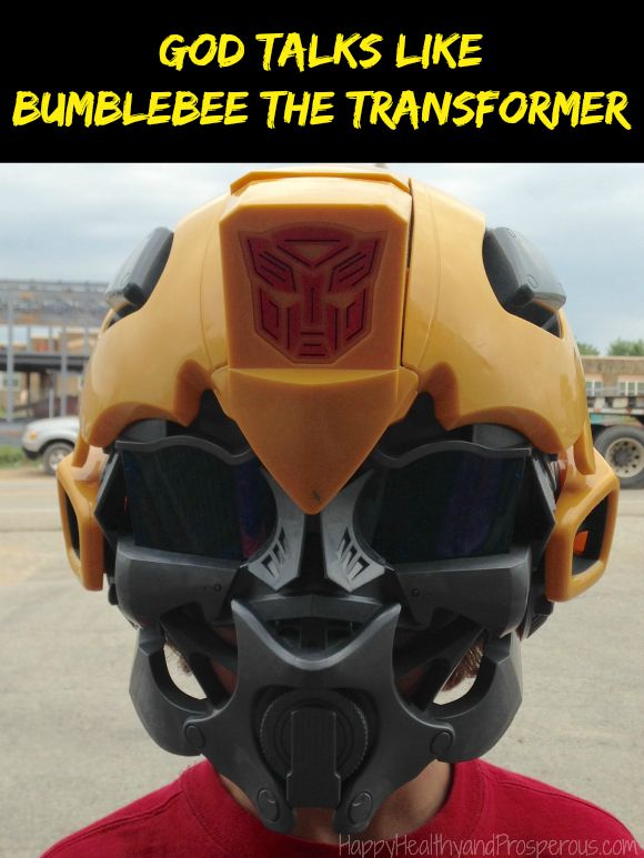 See how God talks like Bumblebee the Transformer...