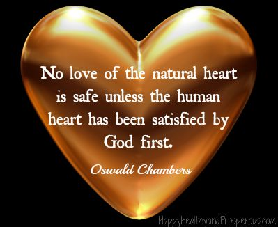 What if God's love isn't enough...answer in this quote by Oswald Chambers