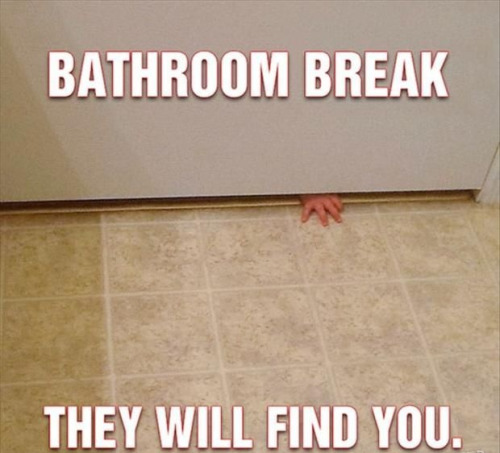 Bathroom Break--They will find you!