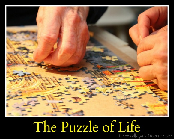 The puzzle of life...How life is like a complicated puzzle that you sometimes can't seem to figure out...