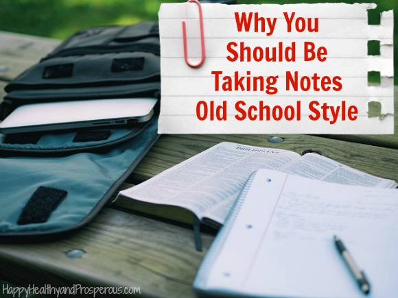 Here are some reasons why you should be taking notes old school style...using pen and paper as opposed to digitally.