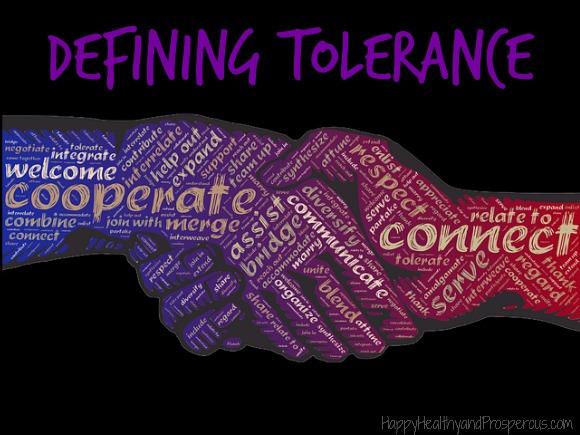 Defining Tolerance