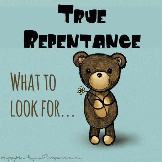True repentance: what to look for...