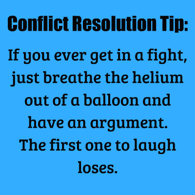 Conflict Resolution Tip