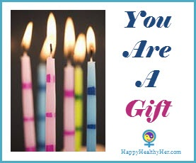 You Are a Gift, birthday candles