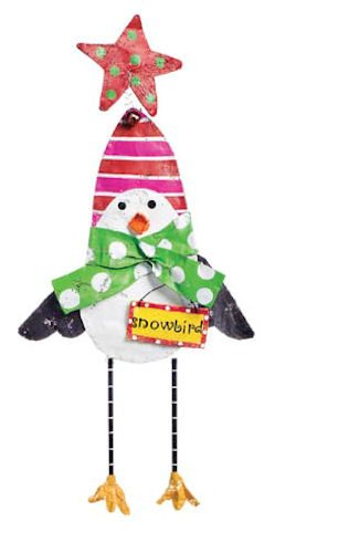 Snowman with Let It Snow Banner Christmas Door Decoration