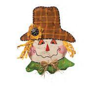 Scarecrow Halloween Door Decoration - Happy Holidayware
