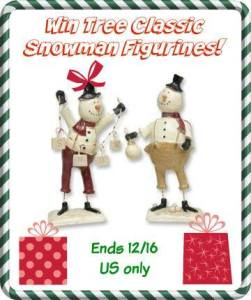 Tree Classic Snowman Figurines Giveaway