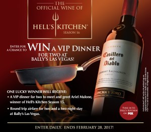 Casillero del Diablo – 'Hells Kitchen' Sweepstakes