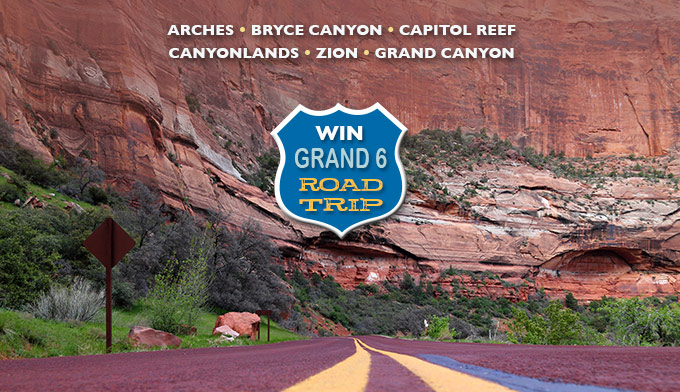 Enter to Win the Grand 6 Road Trip to 6 National Parks Sweepstakes