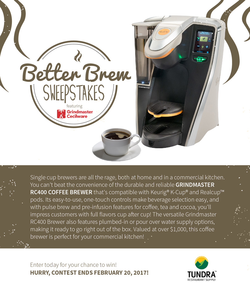 Grindmaster RC400 Coffee Brewer Sweepstakes